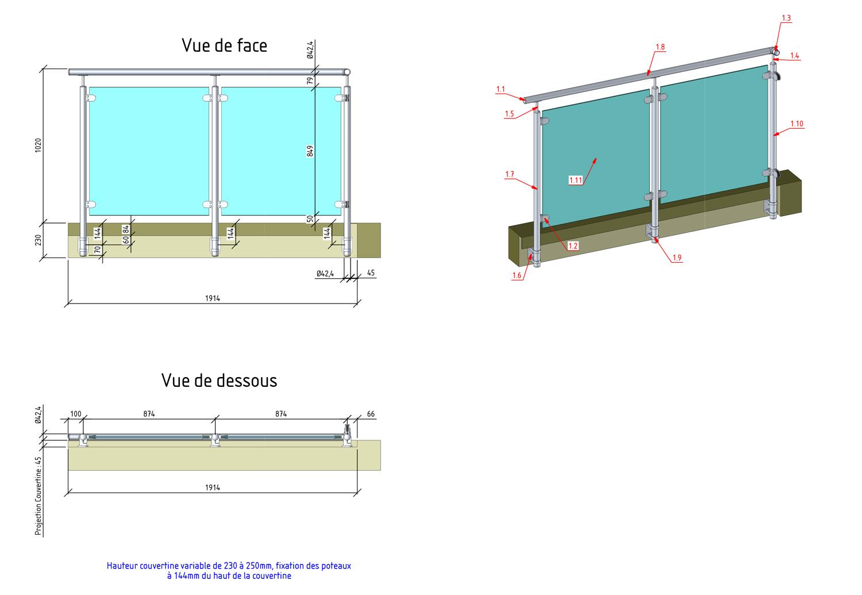 comment monter soi meme un garde corps de toit terrasse. Black Bedroom Furniture Sets. Home Design Ideas