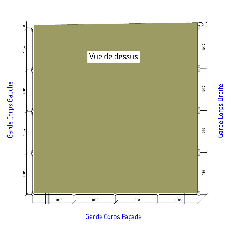 plan terrasse garde corps